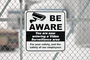 Sign warning of video surveillance